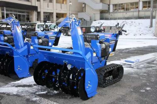 小型除雪機アップ