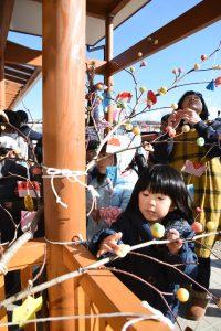 岩泉町・みずき団子づくりで地域と交流