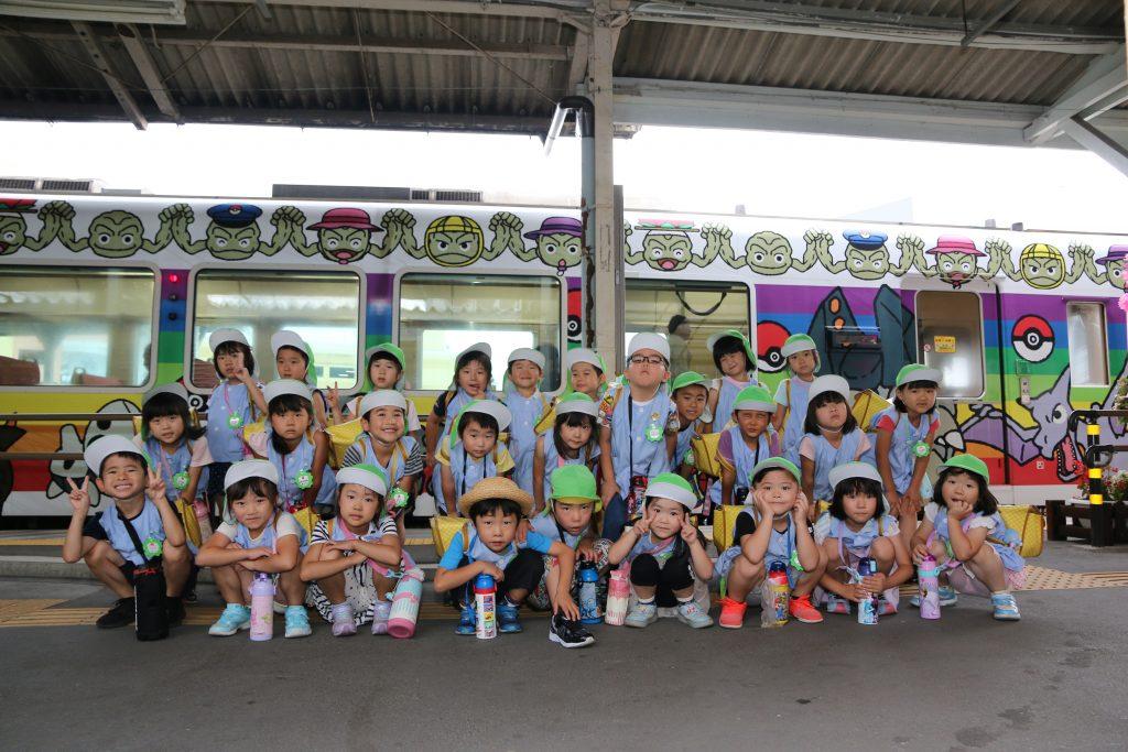 岩泉町・いわいずみこども園児が鉄道に親しむ   いわいずみブログ